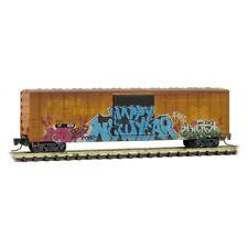 Z Scale - MICRO-TRAINS Line 510 44 010 Weathered RAILBOX 50' Box Car w/Graffiti