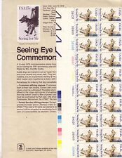 Scott #1787 - 15¢ Seeing Eye Dogs Issue- MNH Plate Block 20 - With Issue Poster