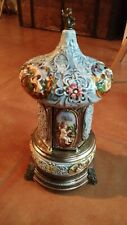 CAROSELLO PORTASIGARETTE REUGE CAROUSEL MUSIC BOX CIGARETTE HOLDER MADE ITALY