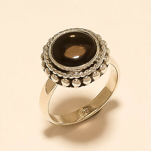 Natural Brazilian Smoky Topaz Ring 925 Sterling Silver Christmas Fine Jewelry AA