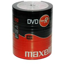 More details for 100 maxell dvd-r recordable 16x speed blank discs 4.7gb 100 pack