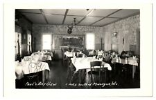 RPPC Paul's Bay View Restaurant Interior, Minocqua, WI Real Photo Postcard