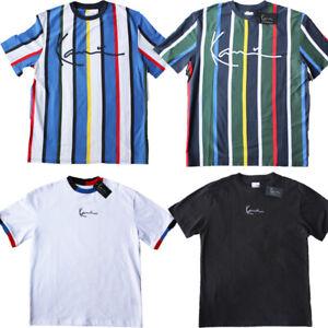 Karl Kani Herren T-Shirt Signature Stripe Tee Men Baumwolle Freizeit Sommer