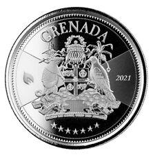 Grenada 2 $  2021 EC8 (4.)  Coat of Arms  1 oz  999  Silber * St/Bu *