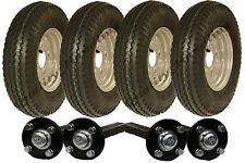 Kit de remorque à essieux tandem pour hautes vitesses, 4.80x4.00-8, homologué