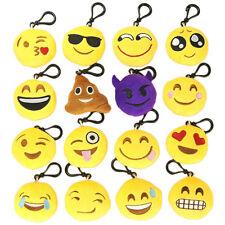 2 Pcs Mignon Emoji Emoticônes Porte-clés Pendentif Sac Mobile Peluche Décor Doux