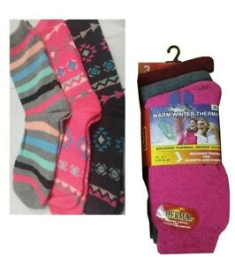 Ladies and Kids Thermal Boot Socks Extra Thick Heat Hiking Winter Warm