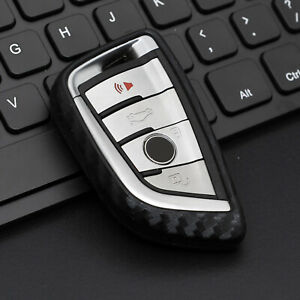 Silicone Carbon Fiber Remote Smart Key Cases Cover For BMW X1-7/2/3/5/6/7 Series