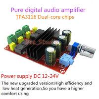 DC 12V-24V 2*100W TPA3116 D2 Dual Channel Mini Digital Audio Amplifier AMP Board
