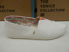 Toms Mens Classic White Canvas Unity Print Size 13