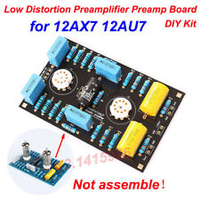 Low Distortion Circuit Tube Preamplifier Preamp Board DIY Kit for 12AX7 12AU7