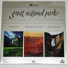 2LaserDisc GREAT NATIONAL PARKS Yosemite/Grand Canyon/Yellowstone Readers Digest