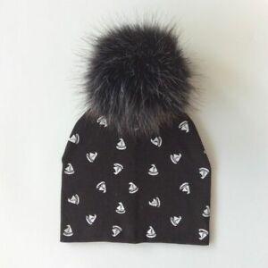 Cotton Baby Hat Cap With Pompom For Girls Boys Kids Autumn Winter Beanies Bonnet