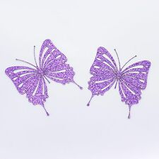 Purple Glitter Butterfly Card Embellishment