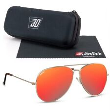 Jim Dale Sonnenbrille Pilot Gold Rot verspiegelt UV400 Markenbrille Unisex