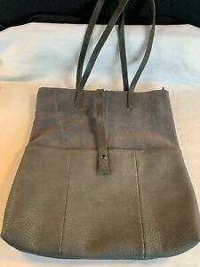 Moda Luxe Clyde Tote - Gray Leather & Suede
