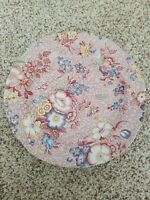 """Spode Pink Chintz Florence dinner plate, 10 1/2""""  (S3672-Z)  Made in England"""
