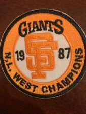 """San Francisco Giants 1987 NL West Champions Embroidered Iron On Patch  2.5"""""""