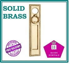 Georgian Vertical Letter Plate Box Solid Brass Cylindrical Hole WITH Knocker D12