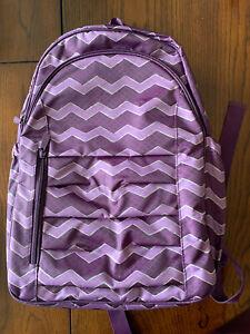 NWOT Thirty One Purple Chevron Backpack