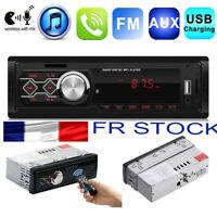 12V 1DIN Autoradio Bluetooth Voiture Stéréo MP3 Music Lecteur USB FM AUX Radio