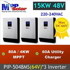 15kw Solar inverter system MPPT solar charger 80A*3 (PIP 5048MS*3 in parallel)