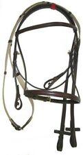 Courbette Plain Ultra-Raised Bridle by Lemetex AG, Cob Size, Berber Brown