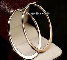18K Rose Gold Gp Hoop Engagement  Fashion Wedding Earrings Free Shipping AC172