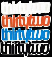 THIRTYTWO SNOWBOARD STICKER 32 6 in x 1.5 in Blue/Black/Orange/White 32 Decal
