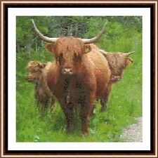 Highland Cow 02 CROSS STITCH KIT
