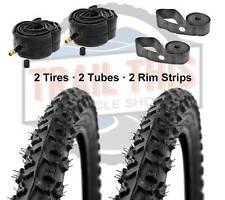 "2-Pack Kenda Alpha Bite 26x1.95"" MTB Bike Tires + Tubes & Rim Strips Kit K831"