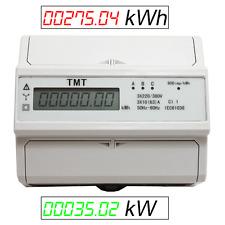 WATTMETER CONTADOR CORRRIENTE TRIFASICA kW kWH 3x 230V/220V 380V-400V n.MID ZS4