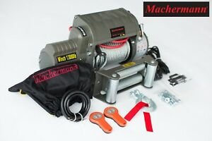 MACHERMANN BRAND ELECTRIC WINCH 12V 13000 lbs lb winch machermann 12v