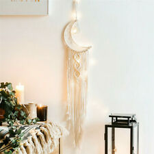 Macrame Woven Wall Hanging Tapestry Boho Chic Bohemian Home Art Decor Moon USA##