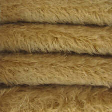 "1/6 yd 300S/C Camel Intercal 1/2"" Ultra-Sparse Curly S-Finish Mohair Fur Fabric"