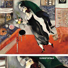 """40W""""x30H"""" BIRTHDAY by MARC CHAGALL - FLYING FLOWERS FUTURISTIC MUSEUM CANVAS"""