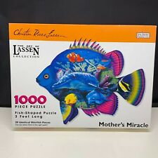 Spilsbury Puzzle Co. 1000 Piece  Fish Shaped Puzzle Mother's Miracle