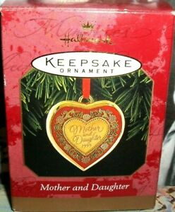 Mother And Daughter`1999`A Special Kind Of Heart,Hallmark Ornament->FREE SHIP
