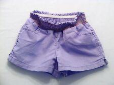"Gymboree ""Glamour Safari"" Smocked Waist Purple Linen Blend Shorts, 4"