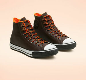 Converse Mens CTAS Winter Hi Gore-Tex Leather 165933C Velvet Brown/Orange NWB