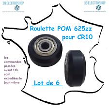 Lot de 6 roulettes en POM avec roulement 625zz pour imprimante 3D CR-10