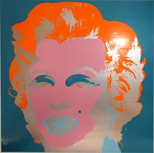 "Farbsiebdruck Andy Warhol (After) ""Marilyn Monroe"" rückseitig gestempelt Sunday."