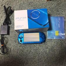 SONY PSP 3000 Vibrant Blue Playstation Portable Japanese Boxed w/ 1x Bonus Game