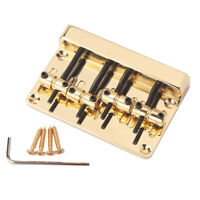 Gold 4 String Bass Bridge Top Load for Fender Precision Jazz Bass Accessory