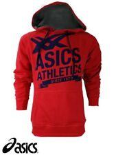 ASICS Men's Size XXL Red Hoodie Hoody Fleece Hooded Top
