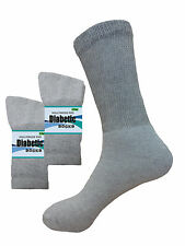 6 Pairs FIRST QUALITY DIABETIC SOCKS Health Support Circulatory Gray Sock 10-13