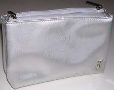 NEW w/ SMALL DEFECT: Clinique Makeup Clutch: silver color & clear pockets inside