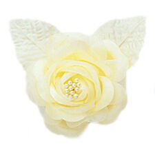 12 silk roses wedding favor flower corsage yellow