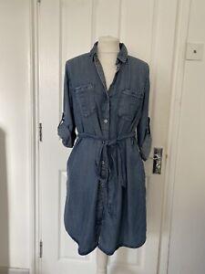 Denim Shirt Dress Size L