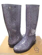 Ugg Shaye Cable Knit Gery Rain Boots Women US10/UK4.5/EU41